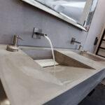 Waschbecken Bad und Badezimmer Horst Kirleis Design Interieurobjekte Interieurelementen Möbel aus Beton für die Raumgestaltung Hamburg Niedersachsen